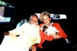 Sri Gurudev with Sally Kirkland.Satya